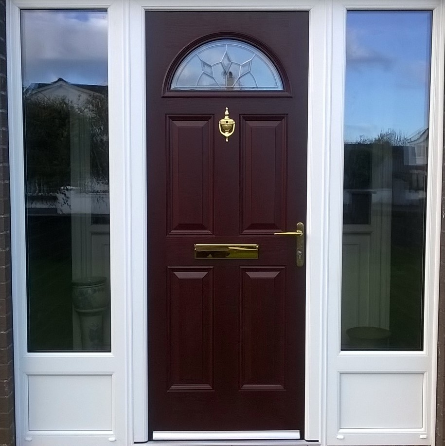 Composite door and side lights